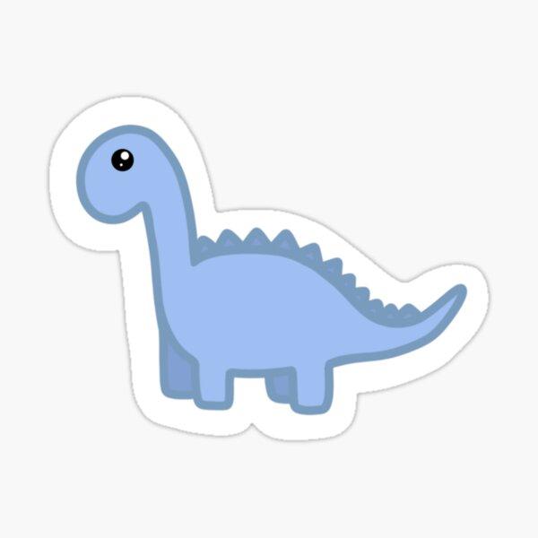 Dinosaurio # 2, Azul Pegatina