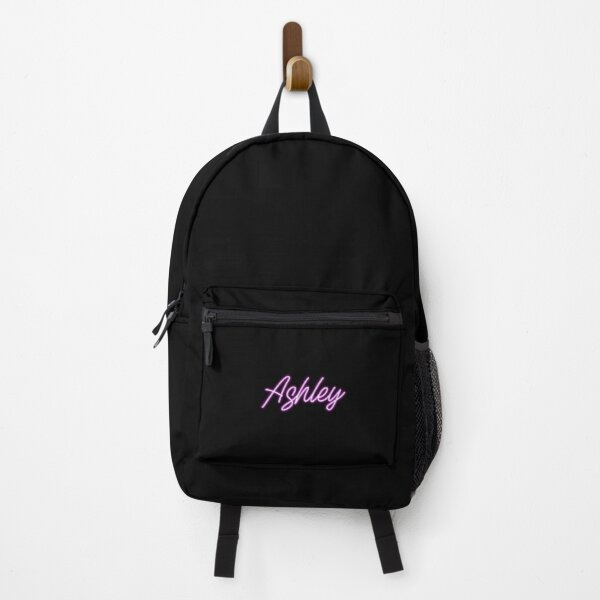Ashley neon lights sign purple name Backpack