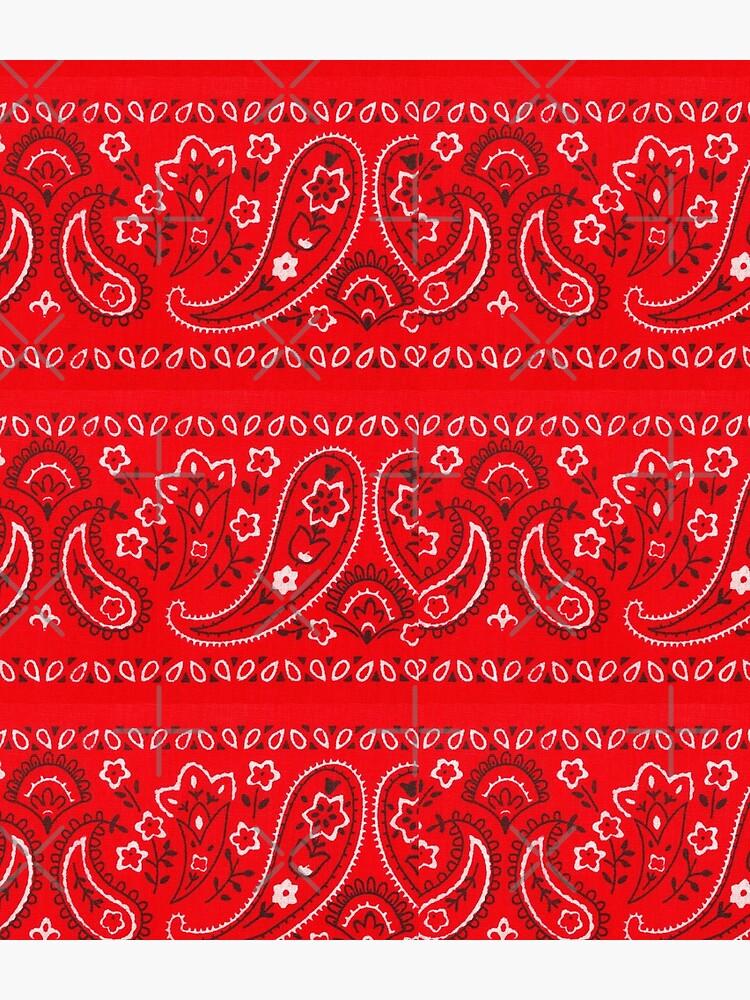 Red Bandana Pattern by omarts14