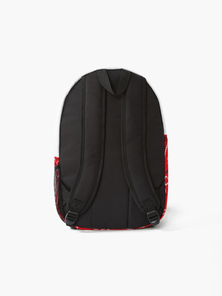 Alternate view of Red Bandana Pattern Backpack