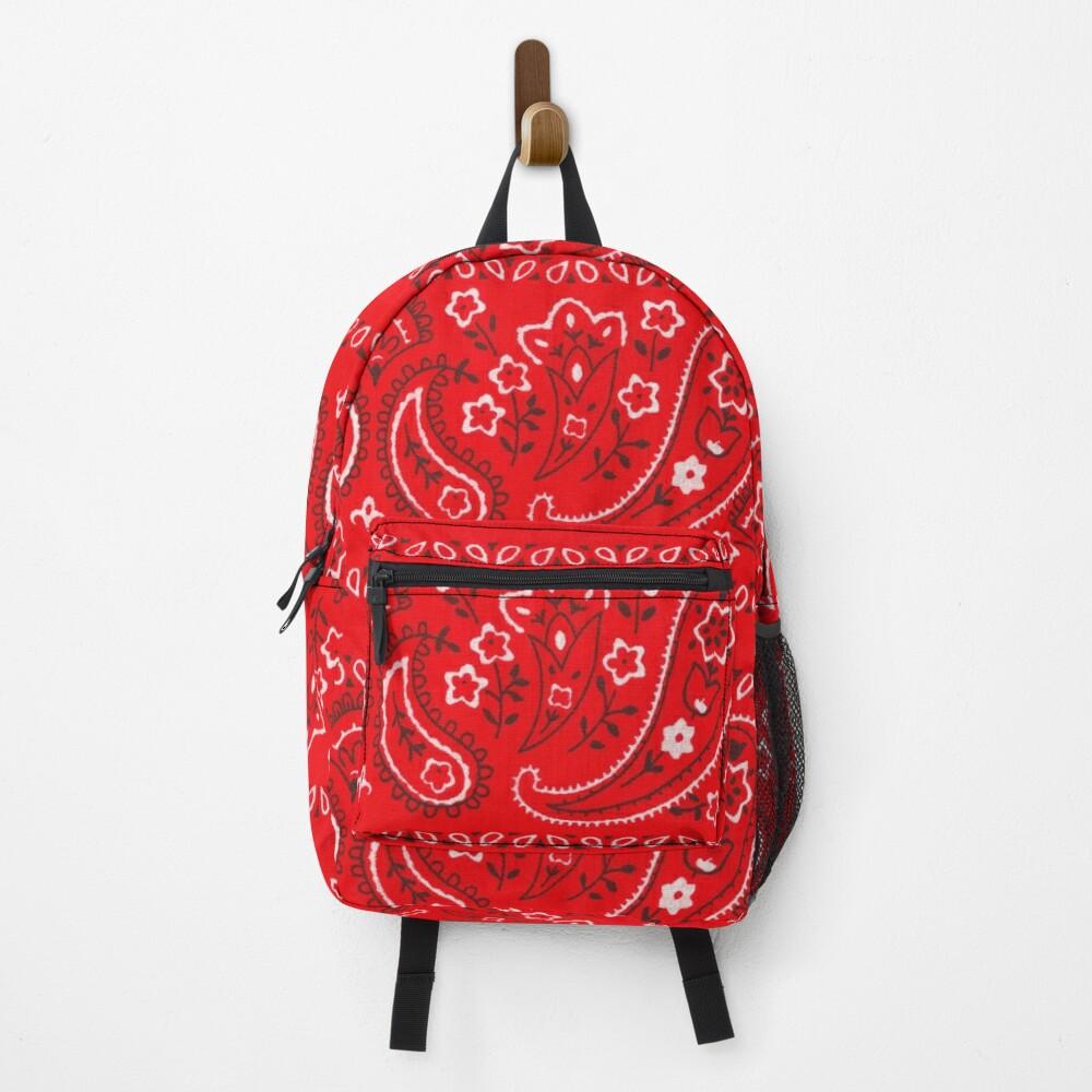 Red Bandana Pattern Backpack