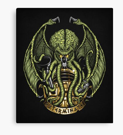 Cthulhu Exterminates - Print Canvas Print