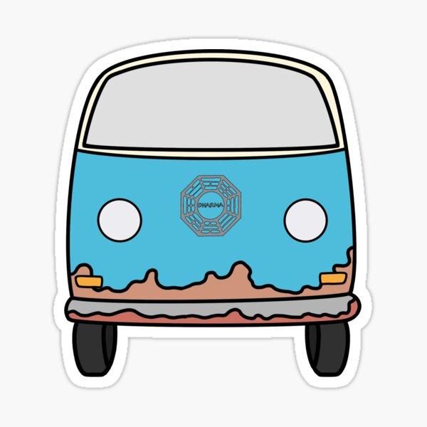 Dharma Hippie Van de Lost TV Series Pegatina