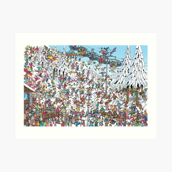 Skiing Stars Art Print