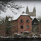St Nicholas Church - Newbury - West Mills View by Samantha Higgs