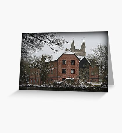 St Nicholas Church - Newbury - West Mills View Greeting Card