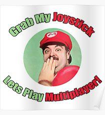 Grab My Joystick -- Sexy Super Mario Poster