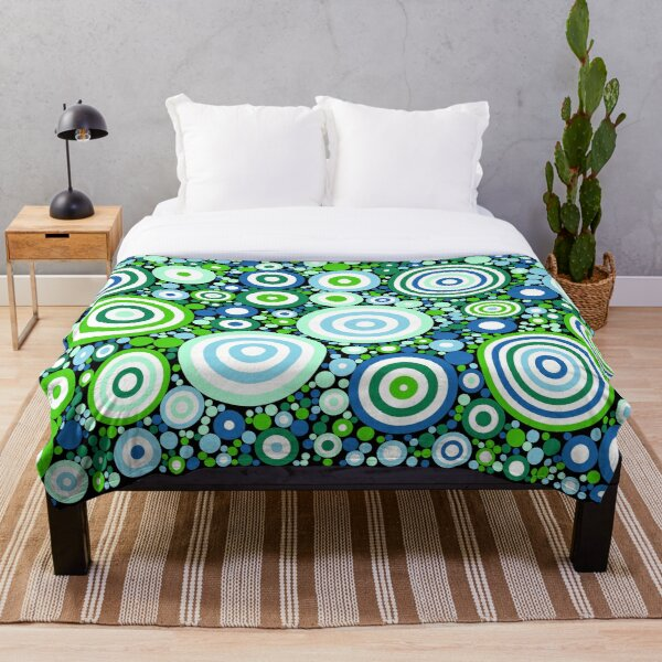 Flowering Certification (greens and blues) Throw Blanket