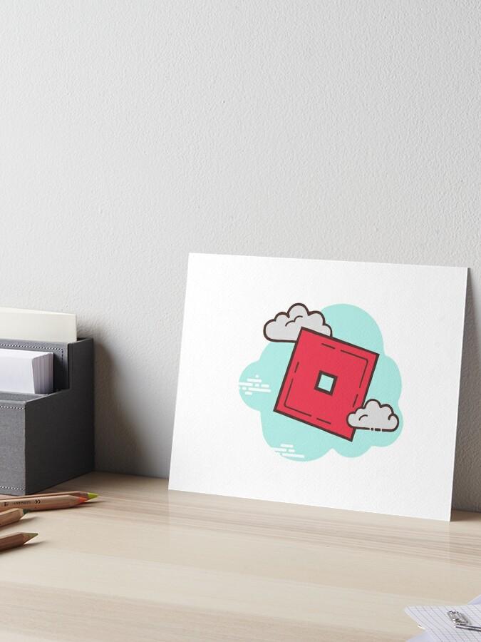 Effect Cloud Roblox Roblox O Block Minimal Cartoon Cloud Graphic Art Board Print By Stinkpad Redbubble