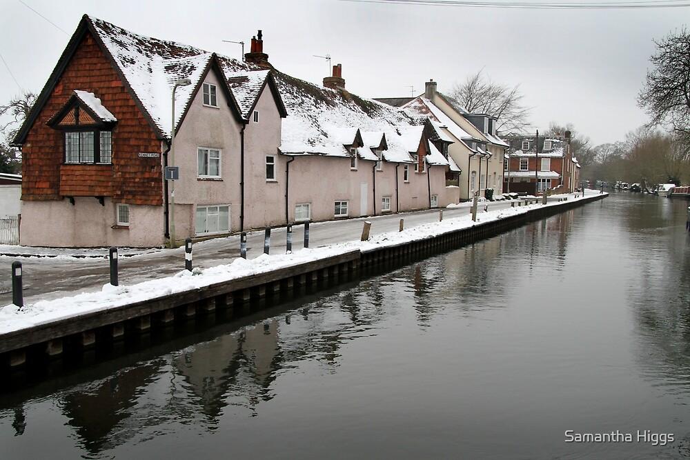 West Mills - Newbury, in Snow by Samantha Higgs