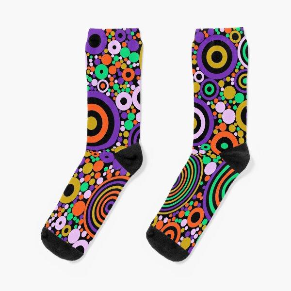 Flowering Certification (oranges, greens and purples) Socks