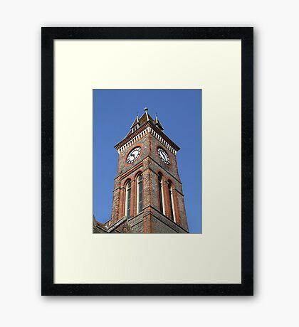Town Hall Clock - Newbury Framed Print