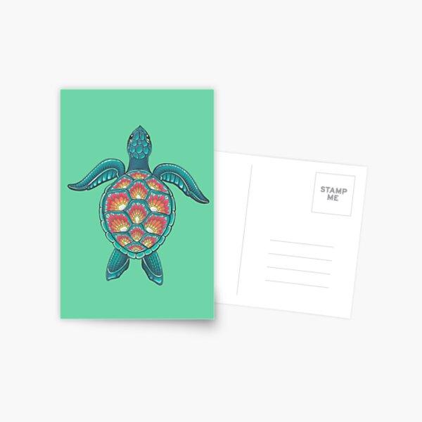 Mandala Turtle Postcard