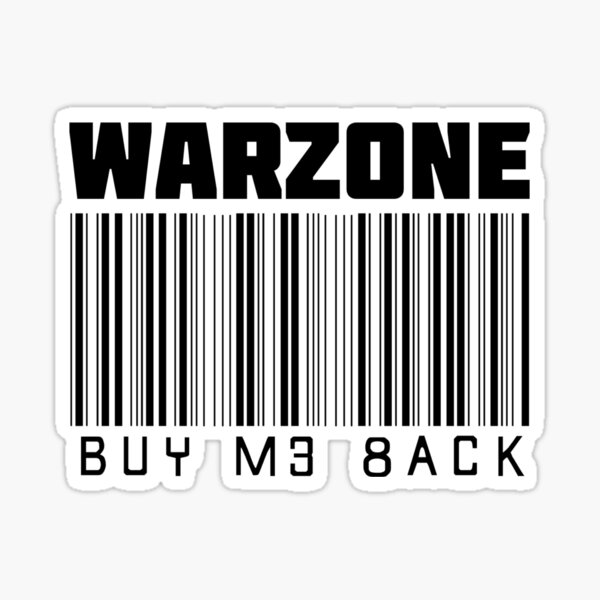 Warzone Buy Me Back Sticker