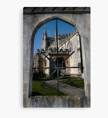 St Nick's Through The Window Canvas Print