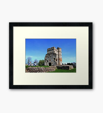 Picnic at Donnington Castle Framed Print