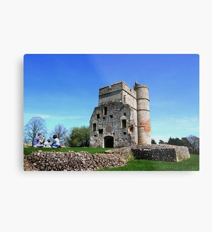 Picnic at Donnington Castle Metal Print