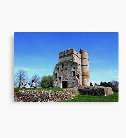 Picnic at Donnington Castle Canvas Print