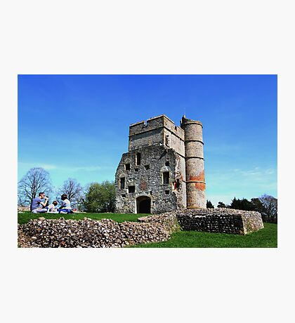 Picnic at Donnington Castle Photographic Print