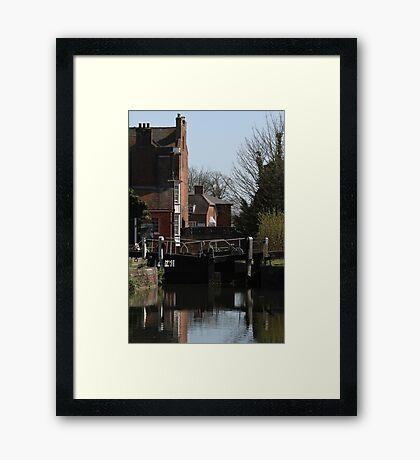 Newbury Lock Framed Print