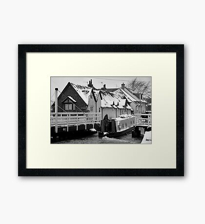 Canal Boat in West Mills Framed Print