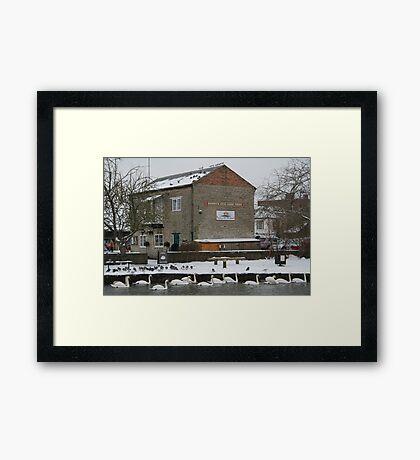 Tea Shop by the Canal - Newbury Framed Print