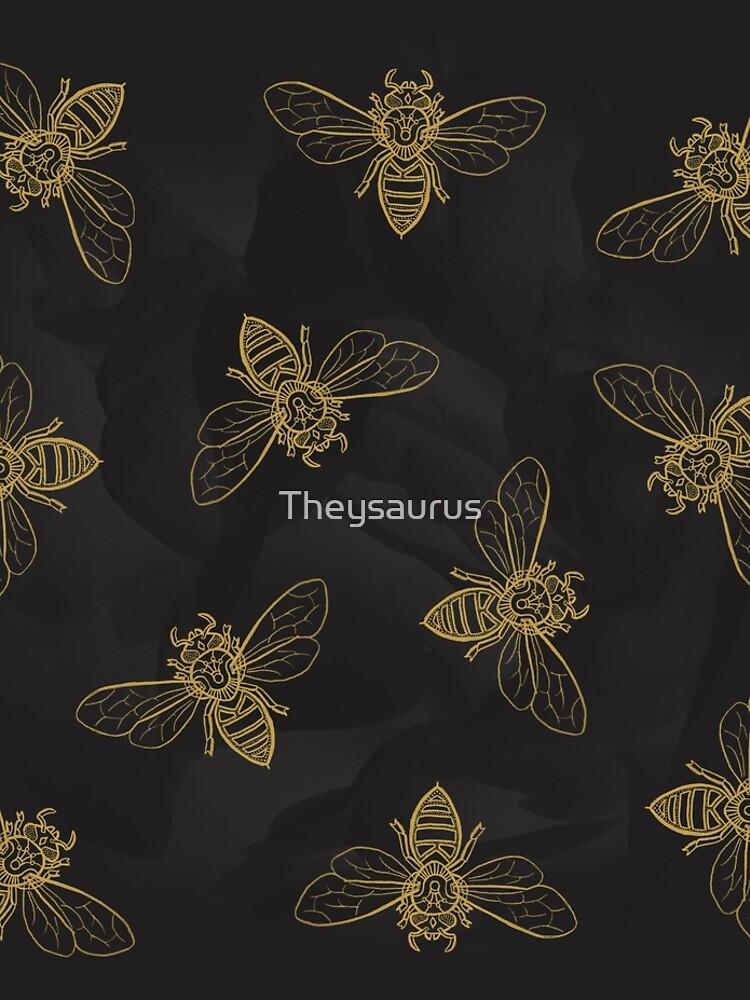 Mandala Bees by Theysaurus