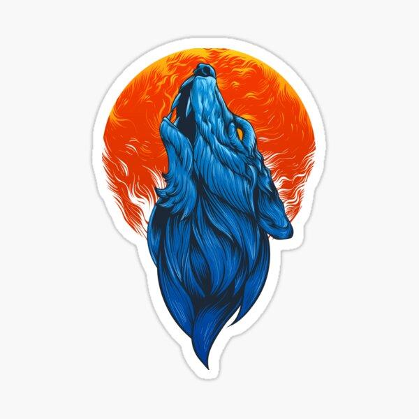 Wolf Artwork Sticker