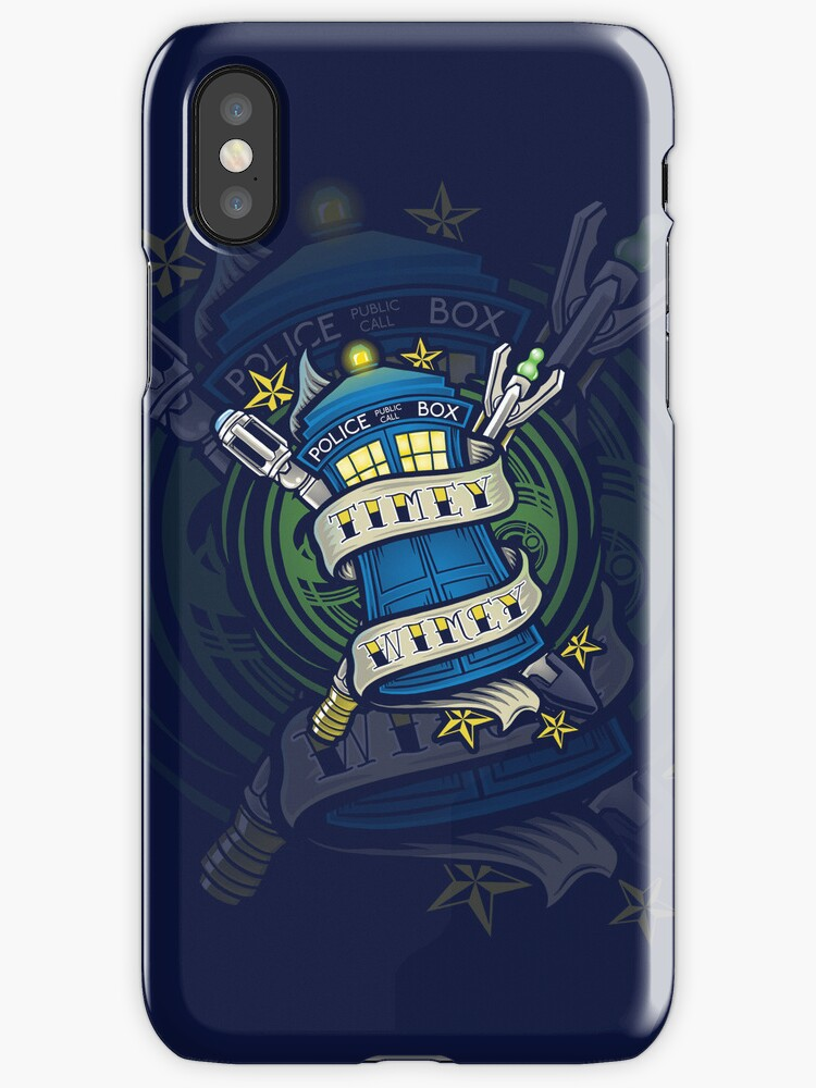 Timey Wimey - Iphone Case #1 by TrulyEpic