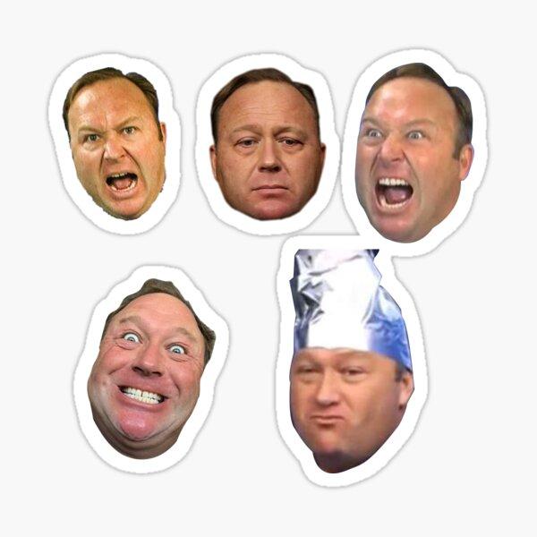Alex Jones Head Pack (M or L) Sticker