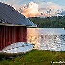 Swedish Sundown at a Lake by Michael Brewer