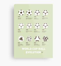My Evolution Soccer Ball minimal poster Metal Print