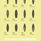 My Evolution Surfboards minimal poster by Chungkong