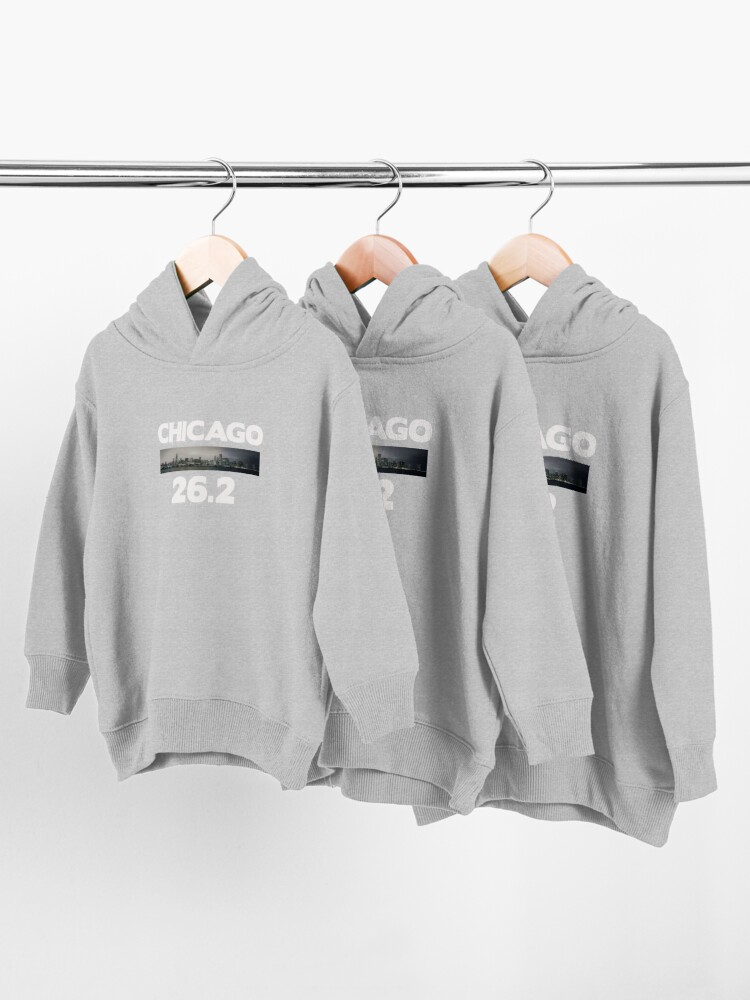 Alternate view of Chicago Illinois Run 26.2 miles  Toddler Pullover Hoodie