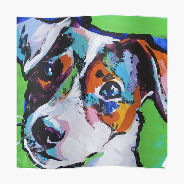 Jack Russell Terrier Dog Art Poster