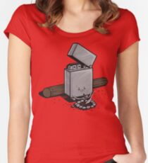 Out of fuel Women's Fitted Scoop T-Shirt