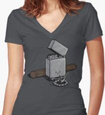 Out of fuel Women's Fitted V-Neck T-Shirt