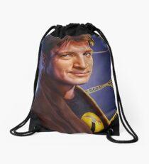 Nathan Fillion Drawstring Bag