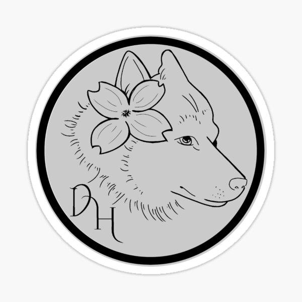 Dogwood House logo - grey Sticker