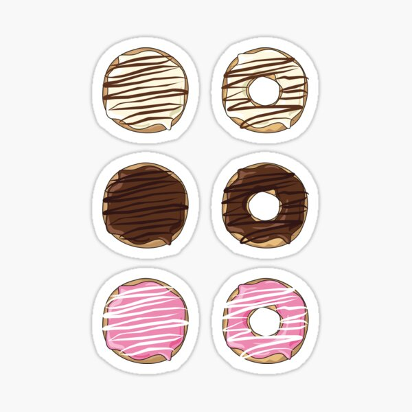 Drizzled Donuts Sticker