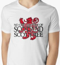 No one gets out of Scotland scot-free Men's V-Neck T-Shirt