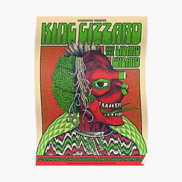 king gizzard and the lizard wizard tour poster  Poster
