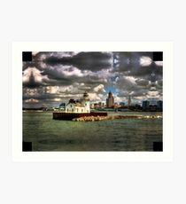 Lighthouse and the City Art Print