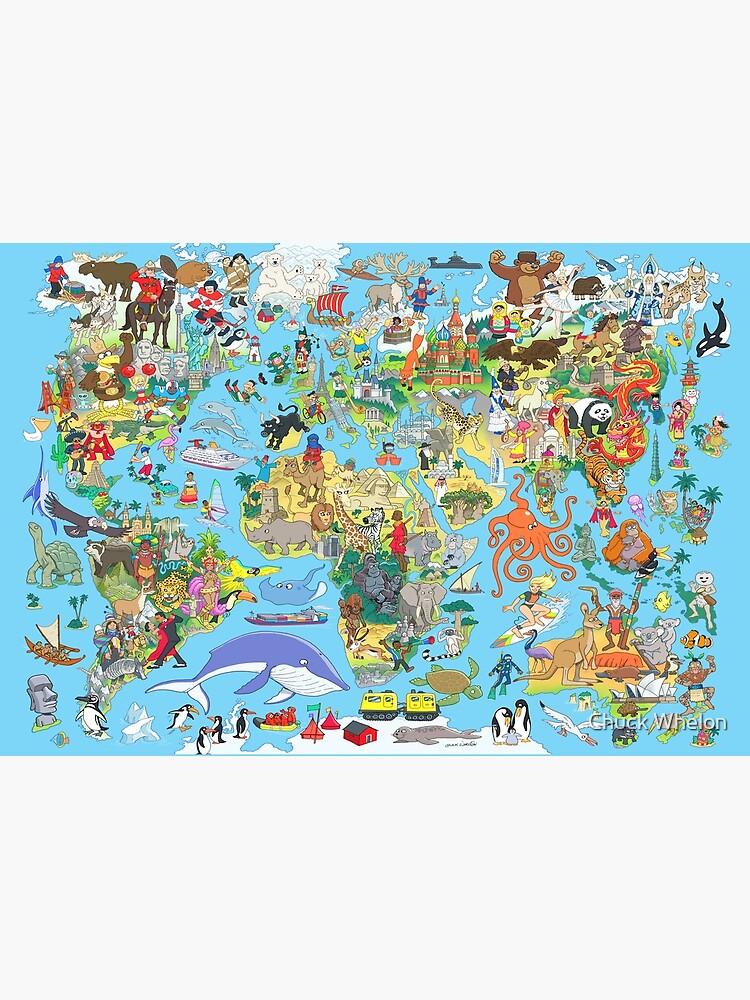 Cartoon World Map by MrChuckles
