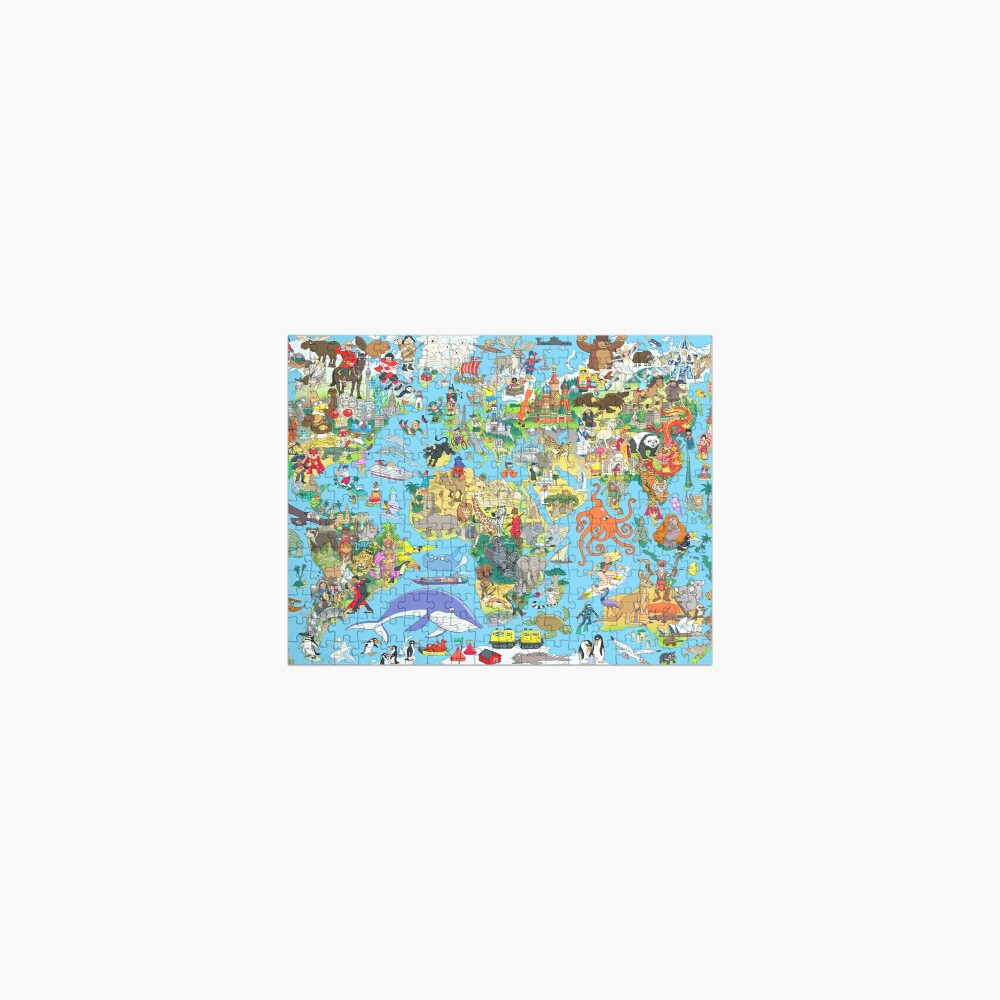 Cartoon World Map Jigsaw Puzzle