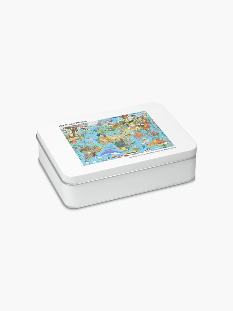 Alternate view of Cartoon World Map Jigsaw Puzzle