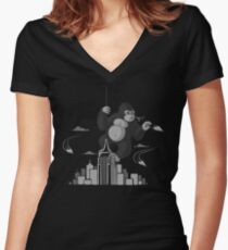Playing with planes Women's Fitted V-Neck T-Shirt