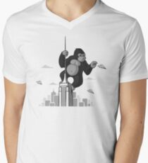 Playing with planes Men's V-Neck T-Shirt
