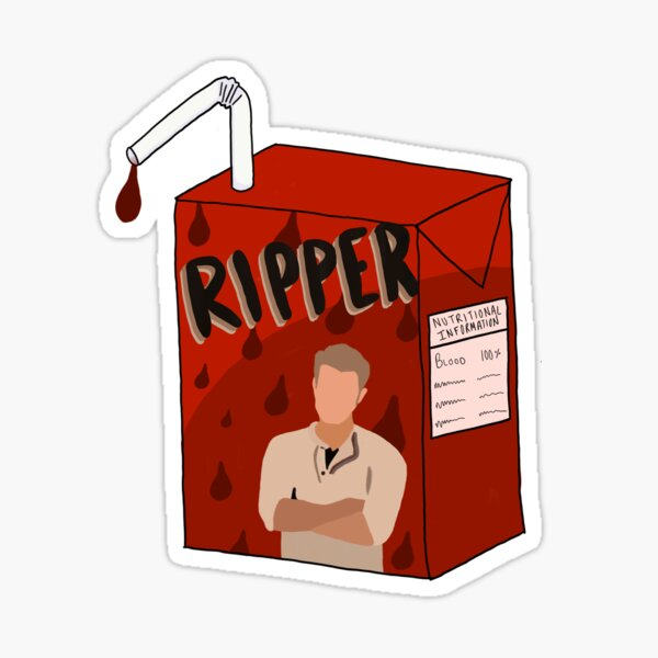 Ripper (Stefan Salvatore) Blood Box: TVD Sticker