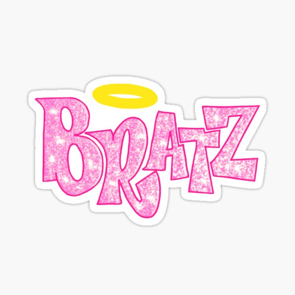 Bratz Doll Angelz Pink Glittery Y2K   Sticker